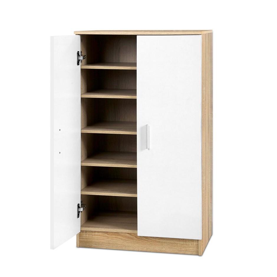 Artiss 18 pairs Shoe Cabinet Rack Storage Organiser Wooden Cupboard Shelf