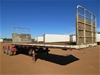 1987 Load Master Triaxle 'A' Section Flat Top Trailer