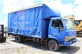 Unreserved 1996 Hino 4 x 2 Curtainsider Rigid Truck
