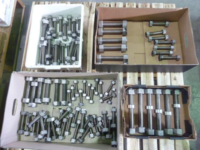 Pallet 316SS Stud Bolts & Nuts - Sizes Listed (Pooraka, SA)