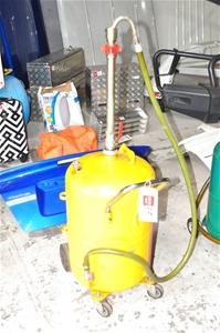 Workshop under hoist Waste Oil Drain wit