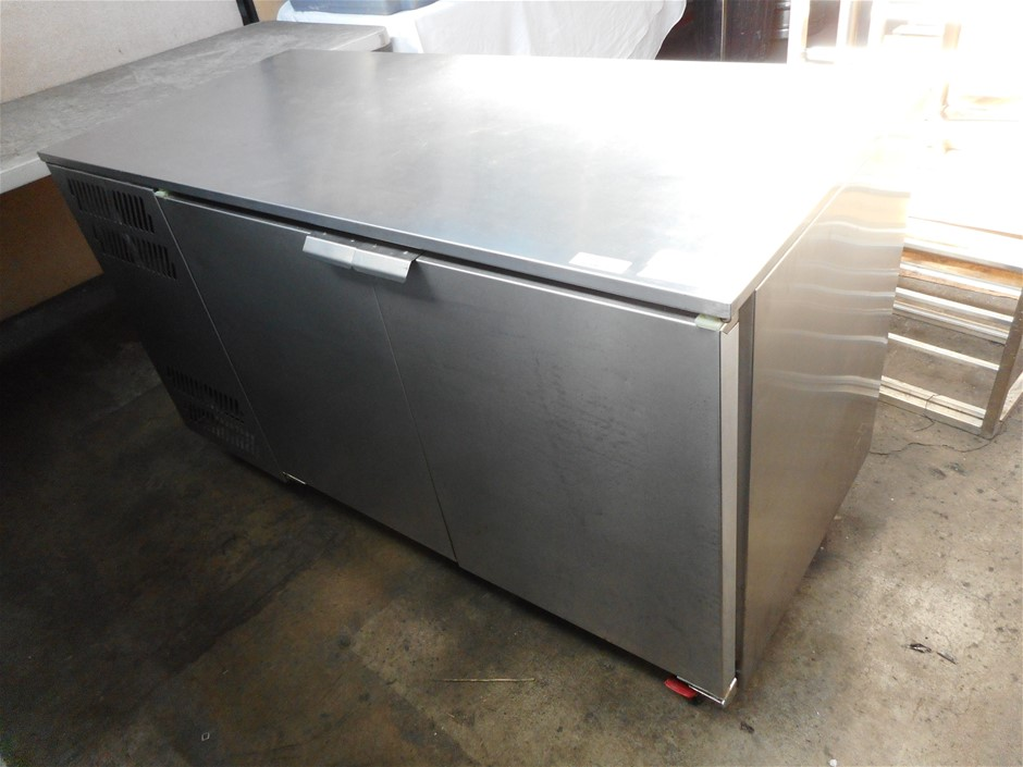 Williams HBR2U Mobile Stainless Steel 2 Solid Door Under Bench Refrigerator