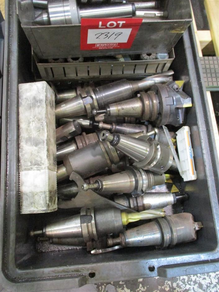Plastic Tub of Assorted Machine Tools