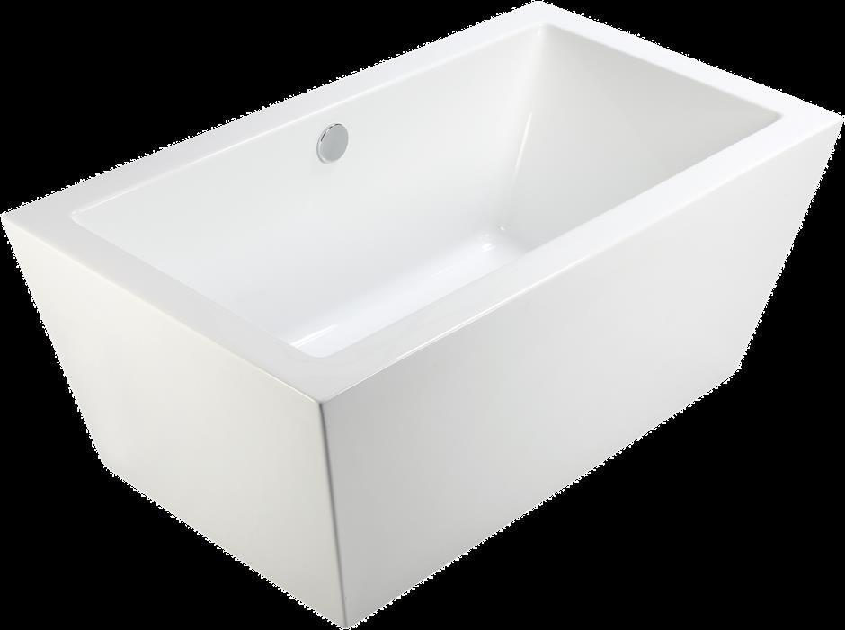 Corsica Bath 1700x800 White Freestanding Lucite