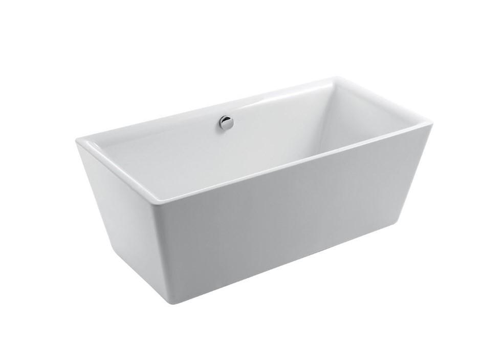 Palermo Bath 1600 White Freestanding Lucite