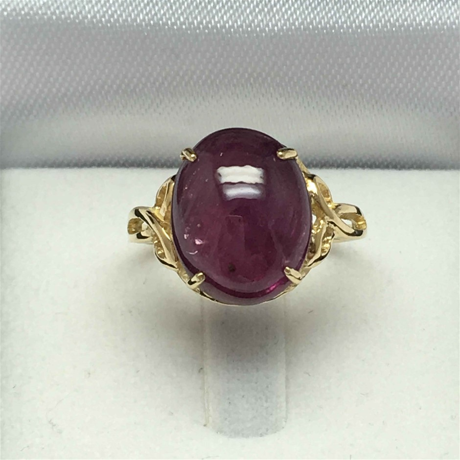 18ct Yellow Gold, 7.00ct Ruby ring