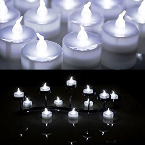 Box of 60pcs Flameless LED Tealight Candle - Cool White