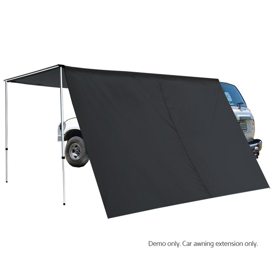 Weisshorn 2M X 3M Side Roof Car Awning Extension - Charcoal�
