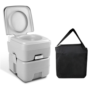 Weisshorn 20L Portable Outdoor Toilet wi