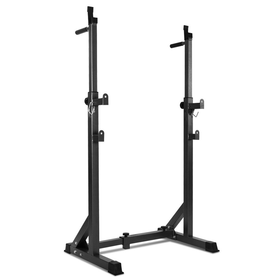 Everfit Adjust Squat Rack Pair Fitness Exercise Weight Lifting Stand
