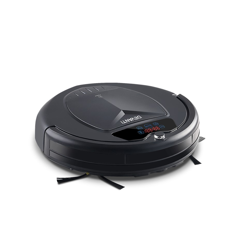 Devanti 4 Mode Robotic Vacuum Cleaner - Charcoal
