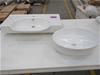 Qty 10 x Assorted Vanity Basin - White