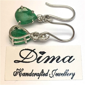 18ct White Gold, 3.60ct Emerald and Diam