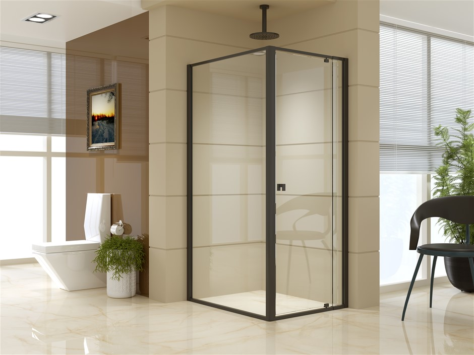 Semi Frameless Shower Screen (74~82)x 195cm & (98~101)x 195cm