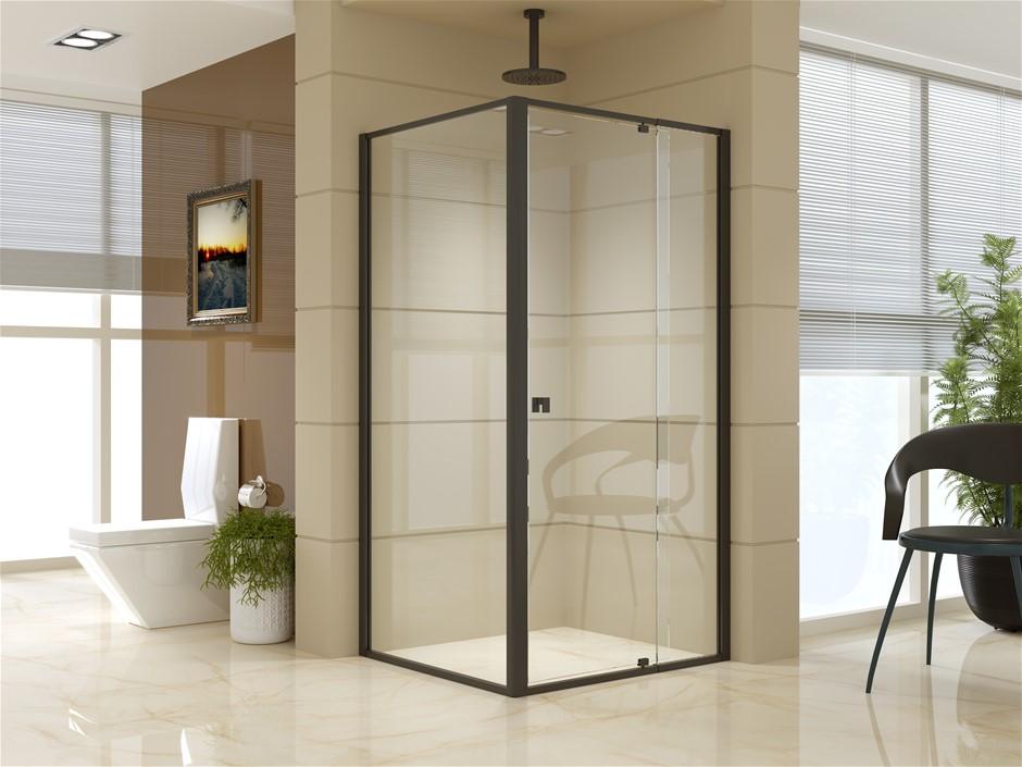 Semi Frameless Shower Screen (98~106)x 195cm & (89~92)x 195cm