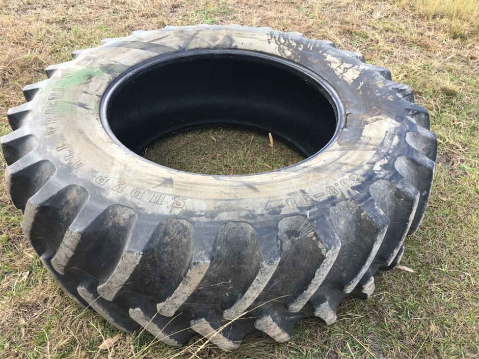 Qty 2x Tractor or Loader tyres, Super All Traction