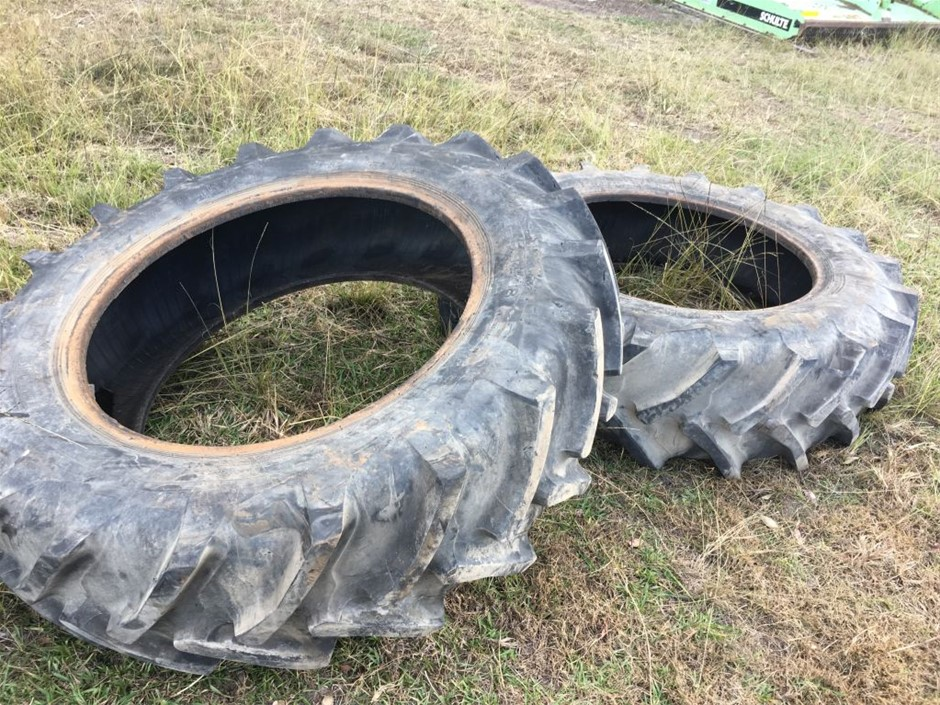 Qty 2x Tractor Tyres 16.9 R38