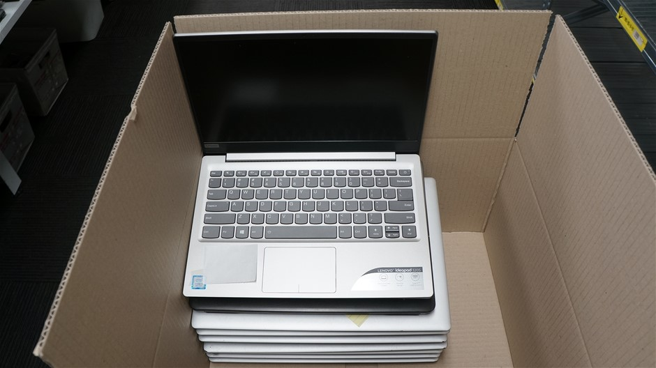 Box of USED/FAULTY Lenovo Laptops