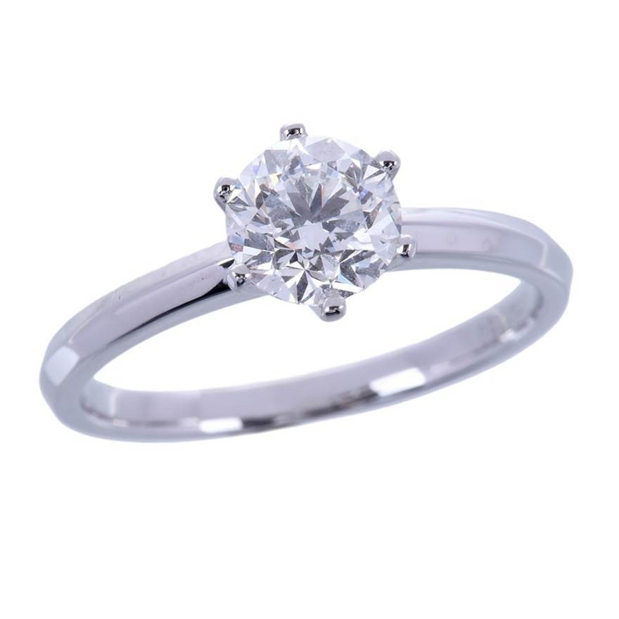 18ct White Gold, 1.00ct Moissanite Engagement Ring