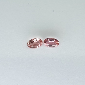 0.45 ct - 2 Pcs Oval Cut Pink Tourmaline
