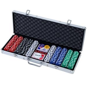 Poker Chip Set 500PC Chips TEXAS HOLD'EM