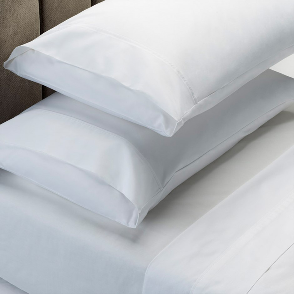 Renee Taylor 1500 Thread Count Cotton Blend Sheet Set - Queen - White