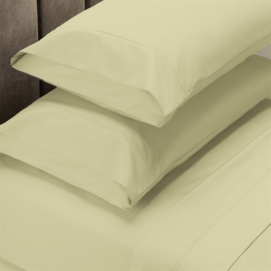 Renee Taylor 1500 Thread Count Cotton Blend Sheet Set - Queen - Ivory