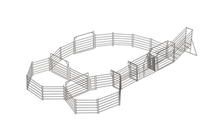 Cattle Yard 30-40 Head 50x50 Panel