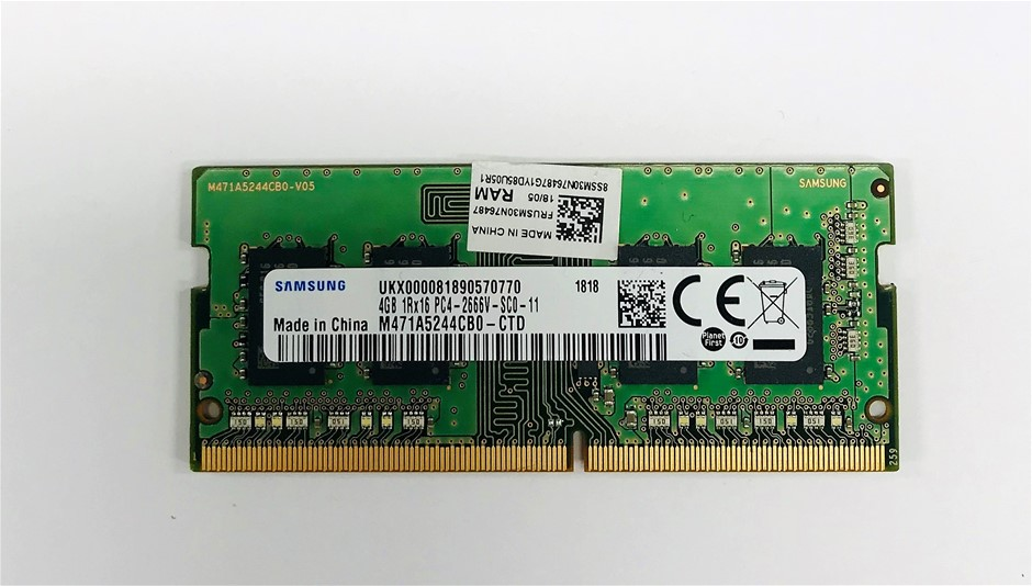 Samsung 4GB DDR4 PC4-2666V SO-DIMM Single-Sided 4-Chip Memory Module