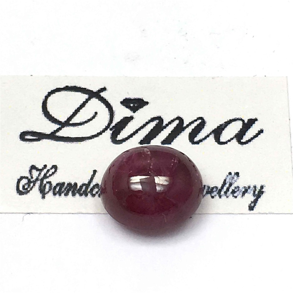 One Stone Ruby Cabochon Oval 5.16ct