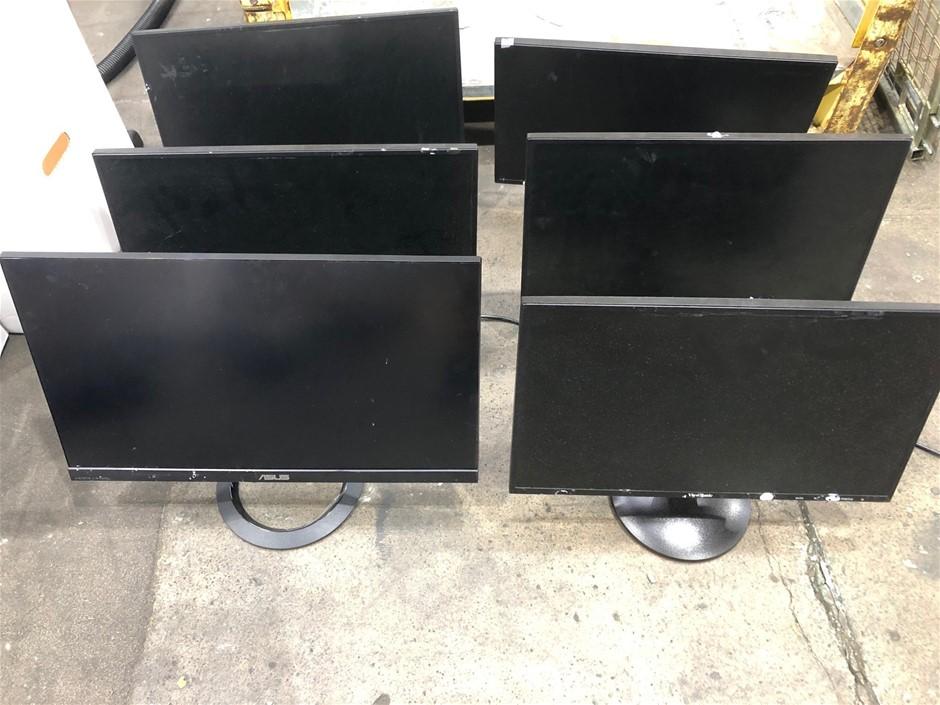 6 x Flat Screen Monitors