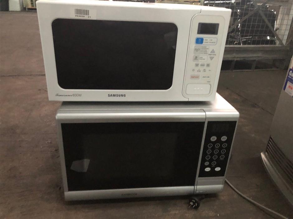 2 x Microwaves