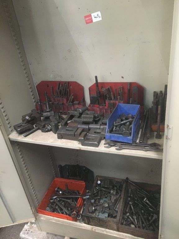 Steel Cabinet With Various Clamping Kits, T Bolts And Clamping Equipment