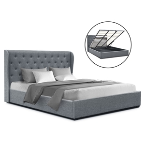 Artiss King Gas Lift Bed Frame Base With