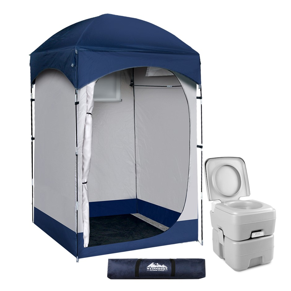 WEISSHORN 20L Outdoor Portable Toilet Camping Tent Change Room Ensuite