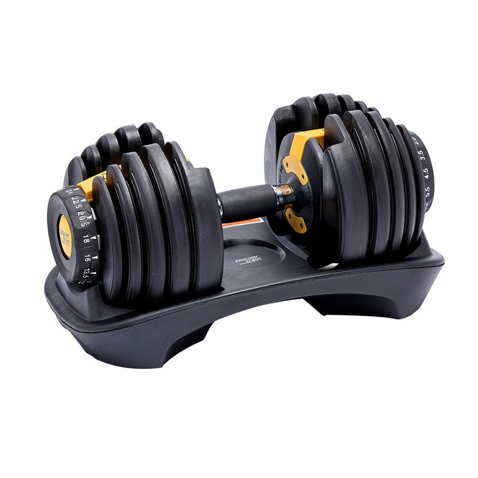24kg Powertrain Adjustable Home Gym Dumbbell - Gold