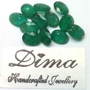 Twelve Loose Emerald 9.40ct in Total