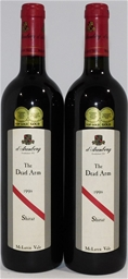 D'Arenberg `The Dead Arm` Shiraz 1998 (2x 750ml), . Cork closure.