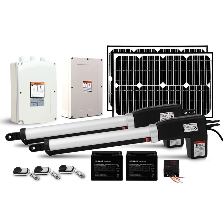 LockMaster 40w Solar Power Swing Gate Opener Auto Remote Control 1000KG