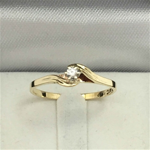 9ct 2 Tone Gold, 1.10g Diamond Ring