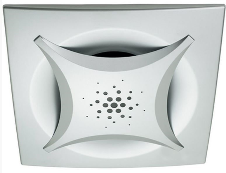 Heller Silver Square Ceiling Ducted Exhaust Fan 250mm