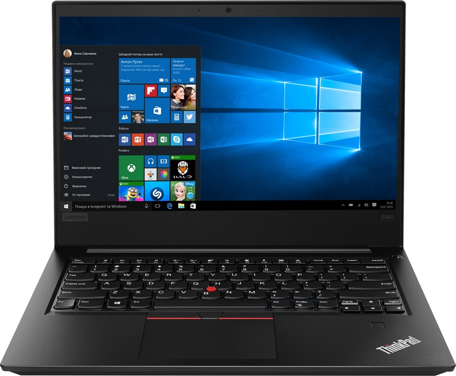 Lenovo ThinkPad E485 14-inch Notebook, Black