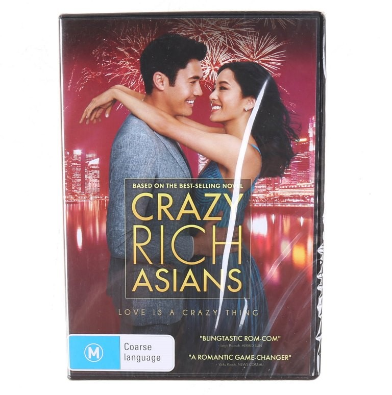CRAZY RICH ASIANS (2018) DVD, Genre: Comedy, Rated M. Buyers Note - Discoun