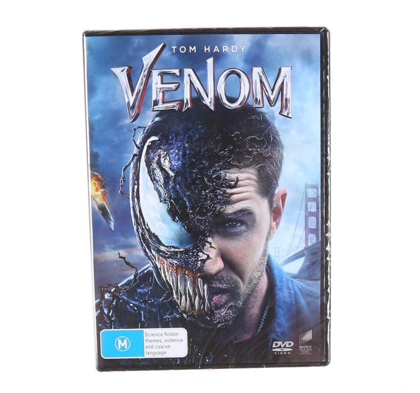 TOM HARDY`S VENOM (2018) DVD, Genre: Action, Rated M. Buyers Note - Discoun