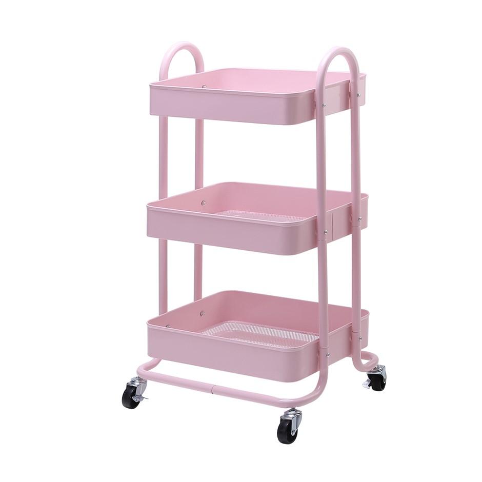 Artiss 3 Tier Rolling Storage Cart Portable Kitchen Trolley Rack on Wheels