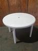 10 x Round Resin Table White