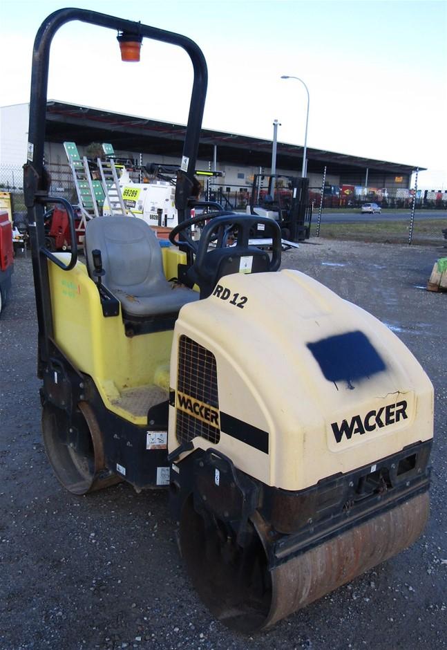 Wacker RD12 1.2 Ton Ride on Roller