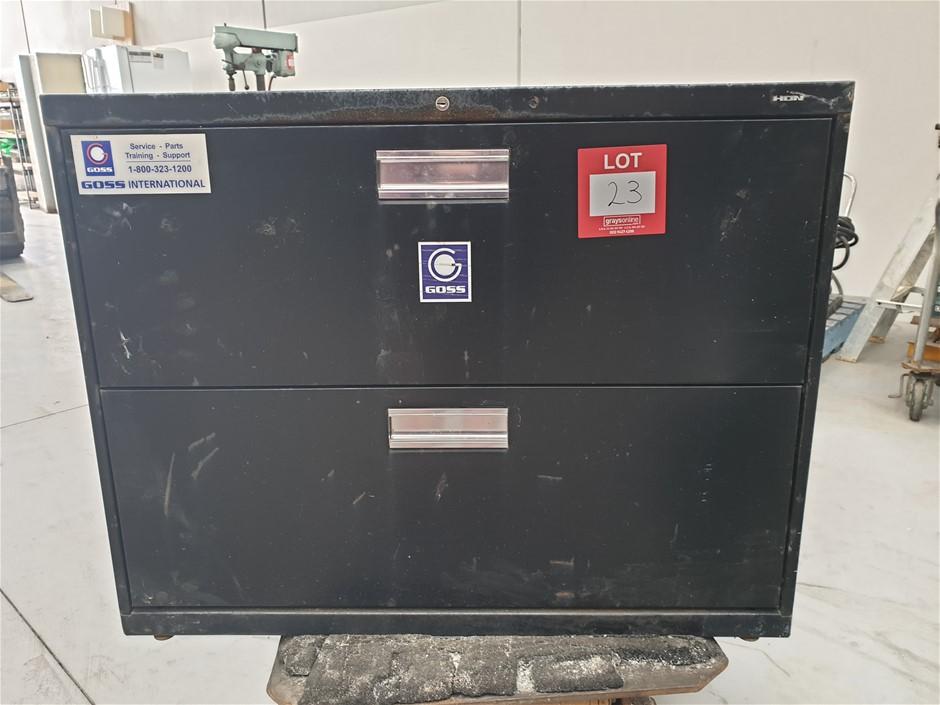 2 Drawer cabinet 915mm L x 490mm W 710mm H