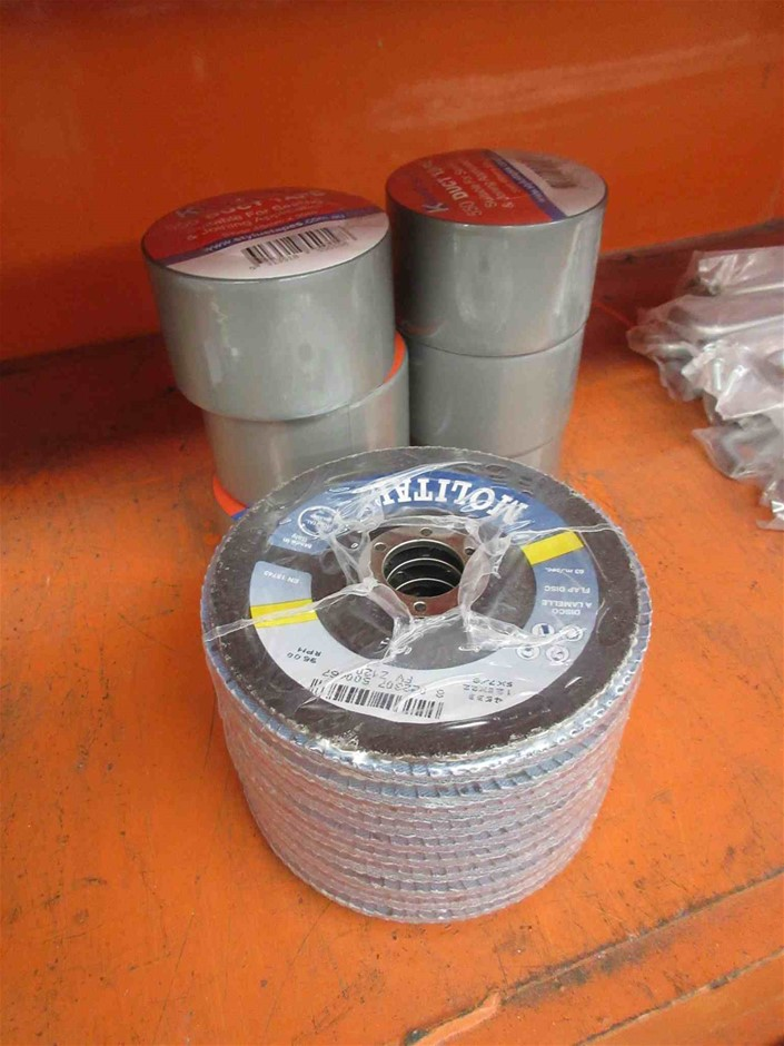 125mm Sanding Flap Discs and Duct Tape
