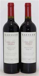 Kaesler `Old Vine` Shiraz 2014 (2x 750ml), Barossa. Cork closure.